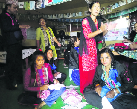 Sindhuli schoolgirls produce sanitary pads on their own