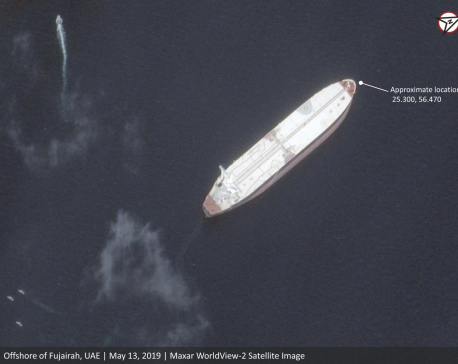 Satellite images show oil tankers allegedly sabotaged