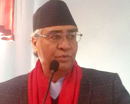 NC president Deuba dismayed by intra- party groupism, stresses on unity (with video)