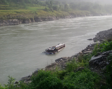 Bus plunges into Trishuli River, three die