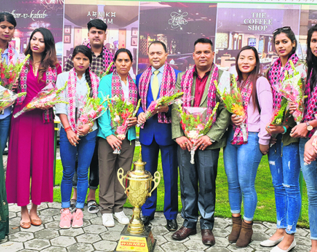 APF's women volleyball players felicitated