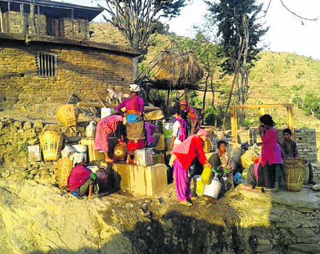 Water crisis emptying several Salyan villages
