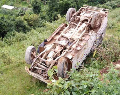 15 injured in Dhading jeep accident