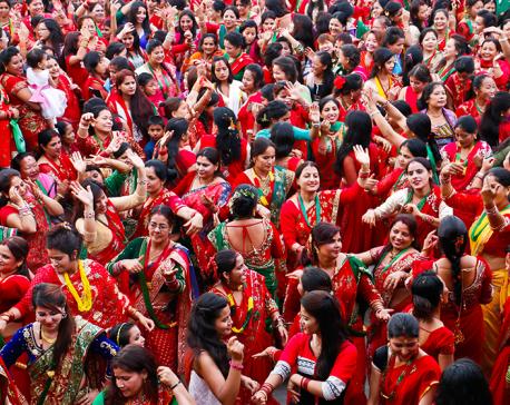 Nepali Hindu women observe Rishi Panchami today