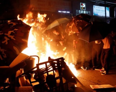 Hong Kong police fend off airport protest but tear gas fired again in Kowloon