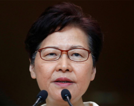 Hong Kong leader says has not discussed resigning with Beijing