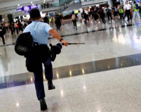 Hong Kong protesters plan to disrupt airport after night of chaos