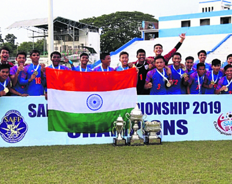 Nepal trounced 7-0 by India in the SAFF U-15 final
