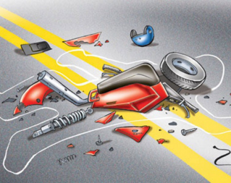 One killed five injured in road accident