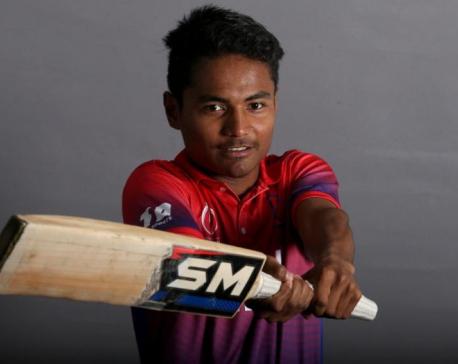 Paudel, the youngest batsman to hit an international half century