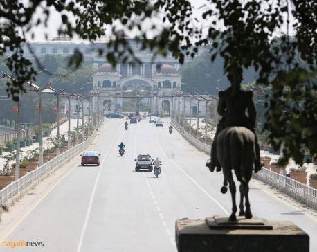 Silent Kathmandu roads in Dashain (Photo feature)