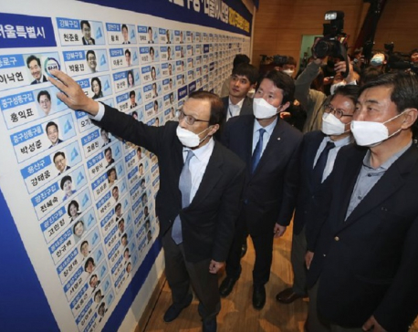 South Korean ruling party wins vote held amid virus fears