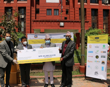 AIN hands over medical assistance package worth Rs 45.3 Million to Ministry of Health