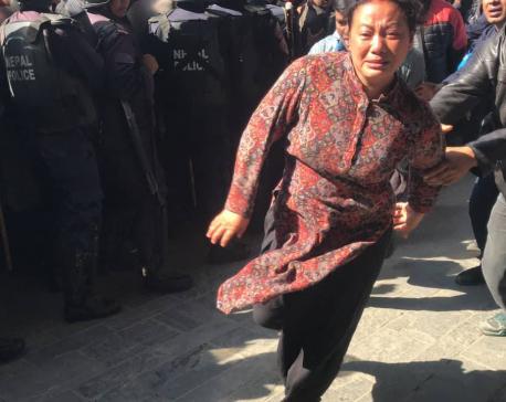 VIDEO: Bina Magar rushes toward her husband