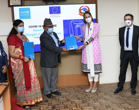 UNICEF hands over life-saving oxygen concentrators