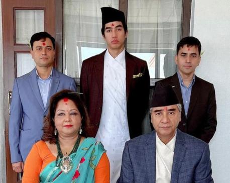 PM Deuba receives Dashain tika