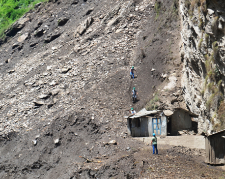 Bhotekoshi flood, landslides cut off six VDCs