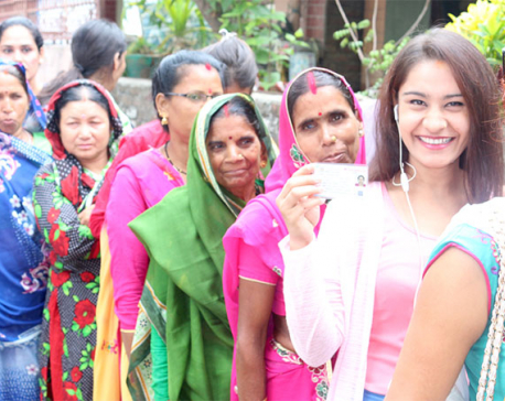 Enthusiastic turnout of voters in Rupandehi (photo feature)