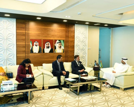State Minister for Industry Moti Lal Dugar holds meeting with UAE minister, urges to invest in Nepal's hydropower
