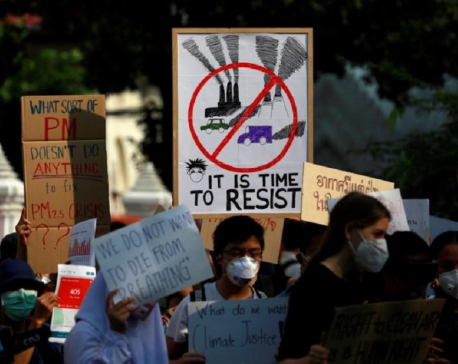 Thai protesters demand action as air pollution clouds Bangkok