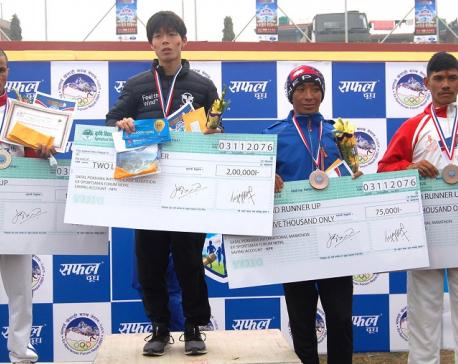 Japan's Takanashi wins 14th Safal Pokhara International Marathon