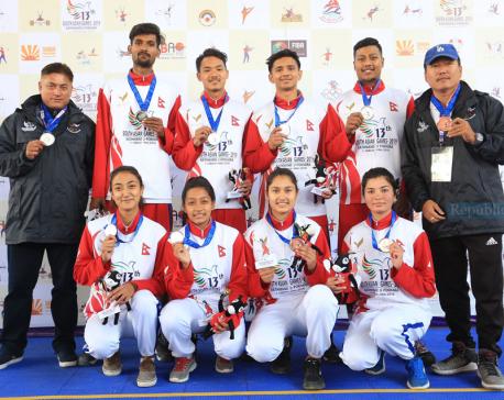 Nepal bags silver in men's 3x3 basketball, women win bronze