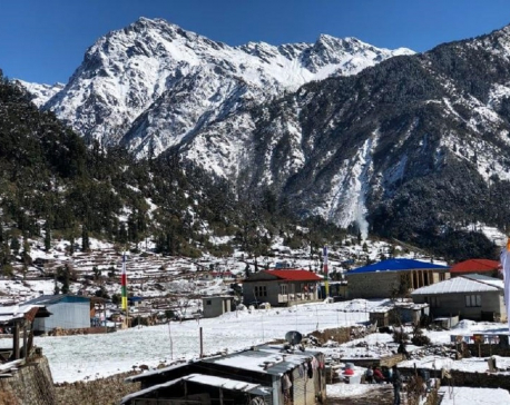 Snowfall affects normal life in Helambu ( with photos)