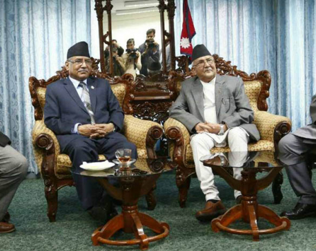 Dahal and Oli discuss holding second-phase  election before May 29