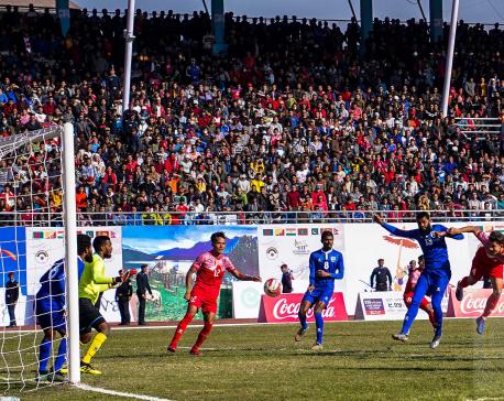 Men's Football: Nepal beats Maldives 2-1(with photos)