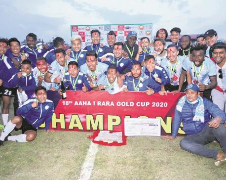 Manang lifts record sixth Aaha Rara Gold Cup title