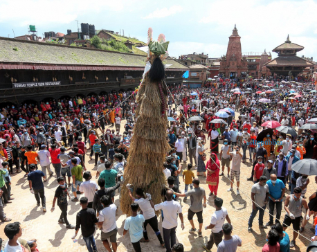PHOTOS: Bhaktapur witnesses huge crowds during Gaijatra despite COVID-19 fears