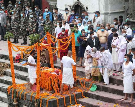 IN PICS: Bidding adieu to literary giant Madhav Prasad Ghimire