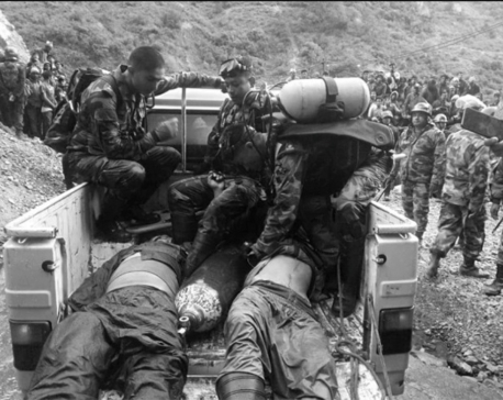 Bodies of four laborers who died of asphyxiation in Bajhang recovered (with photos)