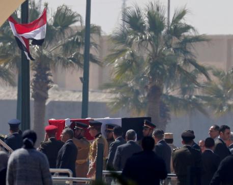 Egypt hold funeral for former president Mubarak