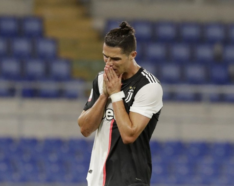 At 35, Ronaldo may have lost a step during the lockdown