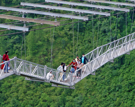 World's second highest bungee jump spot in Parbat all set to come into operation (with photos)