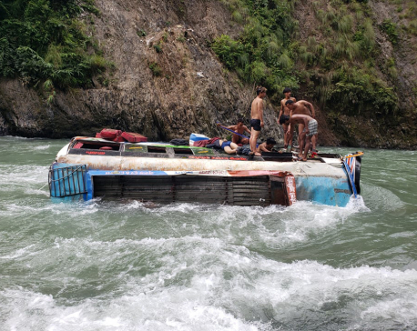 Rolpa bus plunge kills two (with photos)