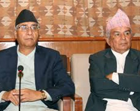 Amid intra-party rift, Deuba reaches out senior leader Poudel