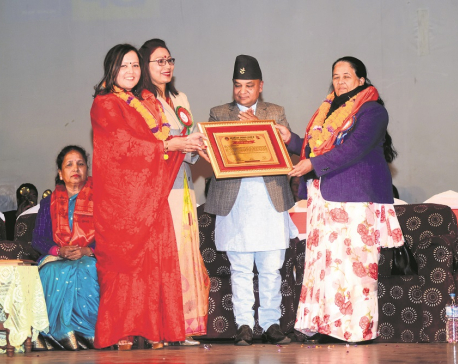 NRM Director Gyawali among 37 women leaders felicitated