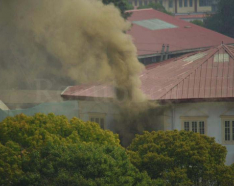 PHOTOS: Fire breaks out at army headquarters