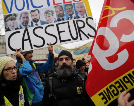 French protest retirement changes, travel disruptions abound