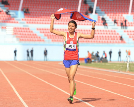 Santoshi Shrestha wins gold for Nepal in 10000m race (with photos)