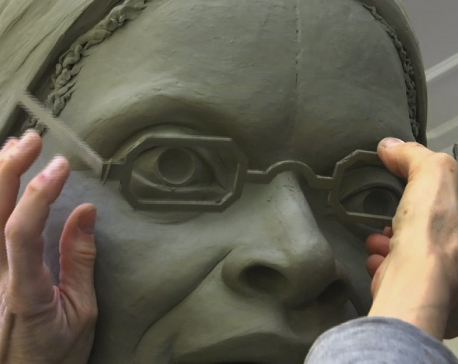 Sculptor crafting first women's statue for Central Park
