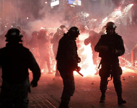 Hourslong clashes between police, protesters engulf Beirut