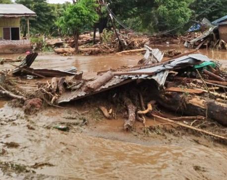 Indonesia landslides, floods kill 55 people; dozens missing