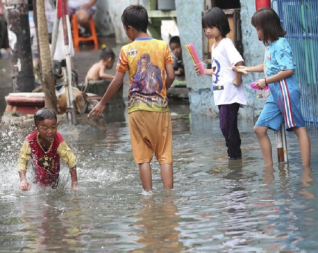Indonesia's flooded capital disinfected to fend off disease