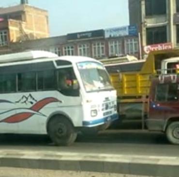Coronavirus fear stretches traffic jam in Bhaktapur