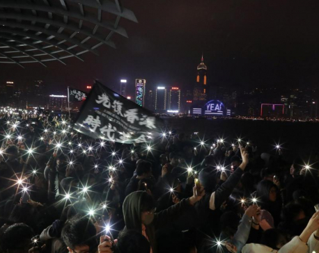 "Thousands march in Hong Kong on New Year's Day, pledge to ""keep fighting"""