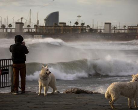 Winter storm lashing Spain leaves 4 dead, power cuts