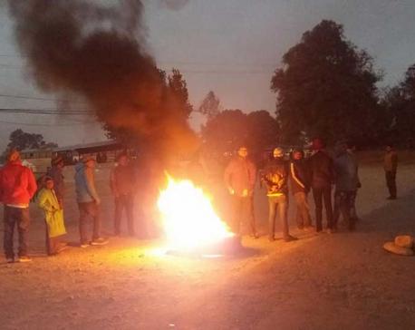 Provincial capital protest: indefinite strike at Dang